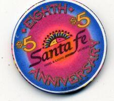SANTA FE 8TH ANNIVERSARY LAS VEGAS   CASINO $5 CHIP