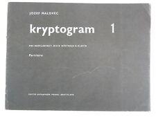 bass clarinet JOZEF MALOVEC kryptogram 1 score & parts