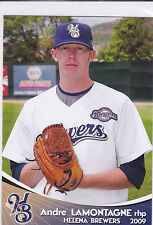 Andre LaMontagne Milwaukee Brewers 2009 Helena Brewers Card