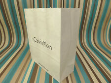 Paper gift bag Calvin Klein 39x31cm white shoppers store carrier new bags NO tag