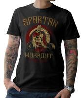 T-SHIRT - SPARTAN WORKOUT - Fitness Bodybuilding Kraftsport no pain gain S-5XL