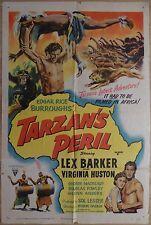 TARZAN'S PERIL (1951) - original US 1 sheet film/movie poster, Lex Barker