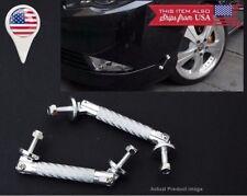 """3.4"""" Silver Carbon Bumper Lip Diffuser Struts Rod Bar Support for Subaru Mazda"""