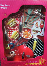 "Our Generation GRILL Barn Dance & BBQ RV Kitchen Food Set 18"" Girl Doll NEW"