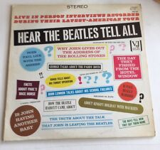THE BEATLES, HEAR THE BEATLES TELL ALL, VEE JAY #PRO 202, STEREO LP RECORD