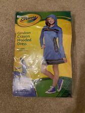 Crayola Cerulean Crayon Hooded Dress Halloween Costume - Child Large (12-14)