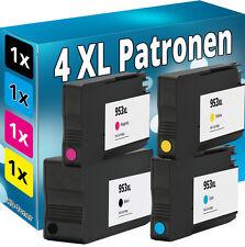 4x TINTE für HP 953XL OfficeJet Pro 8210 8218 8710 8715 8716 8720 8725 8730 8740