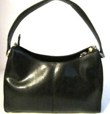 Liz Claiborne Black Vinyl Shoulder Bag Purse Pocketbook VGC Pre-owned