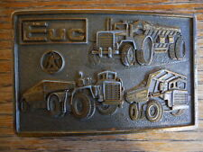 Vintage Euclid Heavy Equipment Mining Earthmoving 1970's Belt Buckle pre owned
