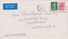 (K72-40) 1977 GB 13p envelope to TAKAPUNA NZ (AO)