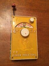 """Fisher Price """"Music Box Tv Radio"""" 1968"""