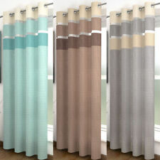 Unbranded Voile Striped Modern Curtains & Pelmets