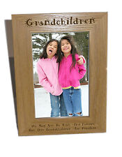 Grandchildren Wooden Photo Frame 6x8 - Personalise This Frame - Free Engraving