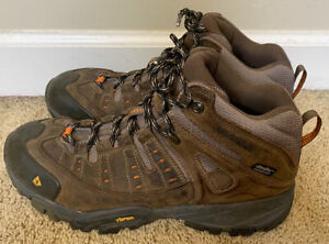 Mens Vasque Brown Leather Waterproof Lace-up Hiking Boots Size 10.5