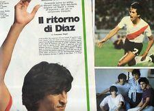 SP91 Clipping-Ritaglio 1983 Ramon Diaz Il ritorno di Diaz