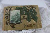 Antique Postcard Album /  Book Early 1900's 19 Cards Inside
