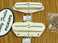 NEW Lindy Fralin Tele Split Blade Blues PICKUP SET White for Telecaster Medium