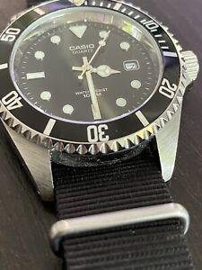 MINT ++ Casio MTD 1010 Dive Watch Black NATO Strap - - - CLASSIC COMBO !