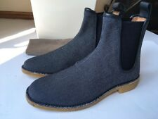 BOTTEGA VENETA Chelsea Boots Oxford Canvas mit Kalbsleder Dark Navy 43 UK 9 NEU