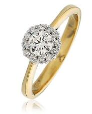 Diamond Solitaire Ring F VS Round 0.55ct Brilliant Cut Diamonds 18ct Yellow Gold