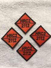 4 HRC2 2112 FR Patch Replacement Tags Fire Resistant Retardant FRC Orange Black