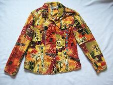 Womens Blouse Casual Multi-color button down Chico's  100% cotton size 1