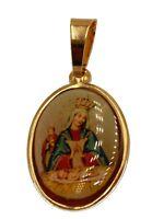 Virgen De Altagracia Pendant 18k Gold Plated with 20 inch Chain