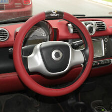 PU Leather Car Steering Wheel Cover 38cm For benz smart fortwo forfour 451 453