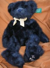 "LARGE RUSS BERRIE ALLELULIA TEDDY BEAR MIDNIGHT BLUE 18"" #4887 RETIRED ORIG. TAG"