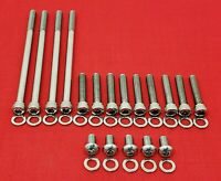 2006-2017 HARLEY DYNA PRIMARY POLISHED STAINLESS STEEL ALLEN BOLTS KIT SET