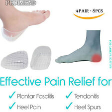 8PCS OF Double Layer Heel Cups BY PEDIMEND™ (WHITE) -Prevent Achilles Tendonitis