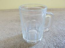 VGT CLEAR GLASS MUG BEER ROOTBEER STEIN HEAVEY SMALL