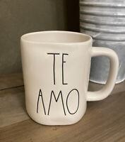 Rae Dunn - TE AMO - White Ceramic Coffee Mug