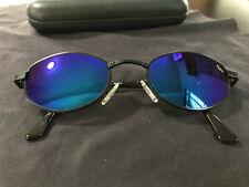 VINTAGE Revo Sunglasses Black Etched Frame w/ Blue Mirror H20 Polarized Lenses
