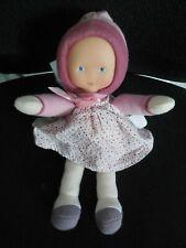 doudou peluche poupée Babicorolle Mademoiselle Myrtille vieux rose COROLLE