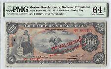 Mexico, Gobierno Provisional 1914 P-S708b PMG Choice UNC 64 EPQ 100 Pesos