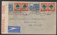 South Africa 1940 (April 27) cover sent airmail to USA franked with Pictorials