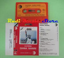 MC GIANNA NANNINI California 1980 italy RICORDI ORK 78689 no cd lp dvd vhs