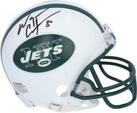Wayne Chrebet New York Jets Autographed Riddell White Throwback Logo Mini Helmet