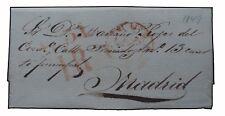 ESPAÑA CARTA CADIZ A MADRID 1849