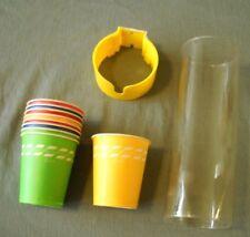 VINTAGE 1976 DIXIE 5 OZ CUPS AND DISPENSER OPEN BOX KITCHEN MOTIF SHARI LEWIS AD