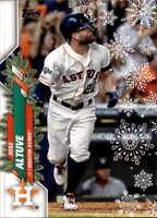 2020 Topps Holiday Super Rare Short Print Variations #HW138 Jose Altuve NM-MT SP
