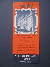 Argentina Hotel Ephemera Alvear Palace Hotel, Buenos Aires, 1939 GGIE
