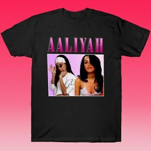 Aaliyah Baby Girl Vintage T-Shirt Retro 90s Rap Hip Hop Unisex Cotton All Size