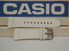 Casio Watch Band BGA-131 -7 White Rubber Baby-G. G-Shock Watchband / Strap
