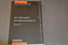 Les régimes matrimoniaux Malaurie  Philippe   Aynès  Laurent (D3)