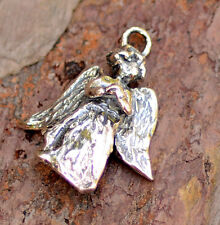 Beautiful Angel with Heart Charm or Pendant in Sterling Silver