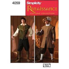 Simplicidad patrón De Costura Para Hombre Renacimiento Trajes Tallas Xs-Xl 4059