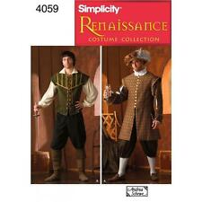 SIMPLICITY SEWING PATTERN Men's Renaissance Costumes SIZES XS - XL 4059