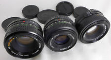 3 manual lens LOT Minolta 50mm f1.7 Rokkor-X MD 50mm f2 & Fujinon 55mm f2.2 vtg